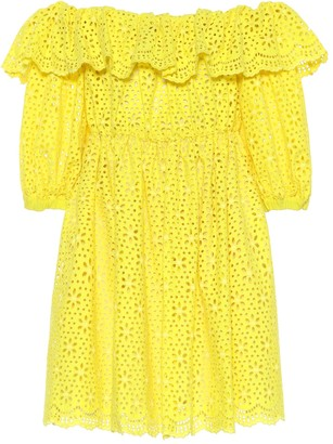 MSGM Off-the-shoulder cotton dress