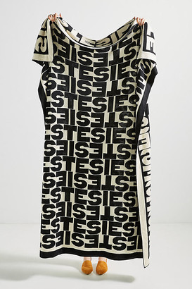 Clare Vivier for Anthropologie Sieste Throw Blanket By in Black Size ALL