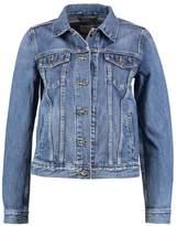Gap ICON CRAZY STRIPE LOGO Denim jacket medium indigo