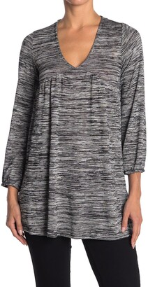 Velvet Torch V-Neck Empire Waist Tunic Sweater