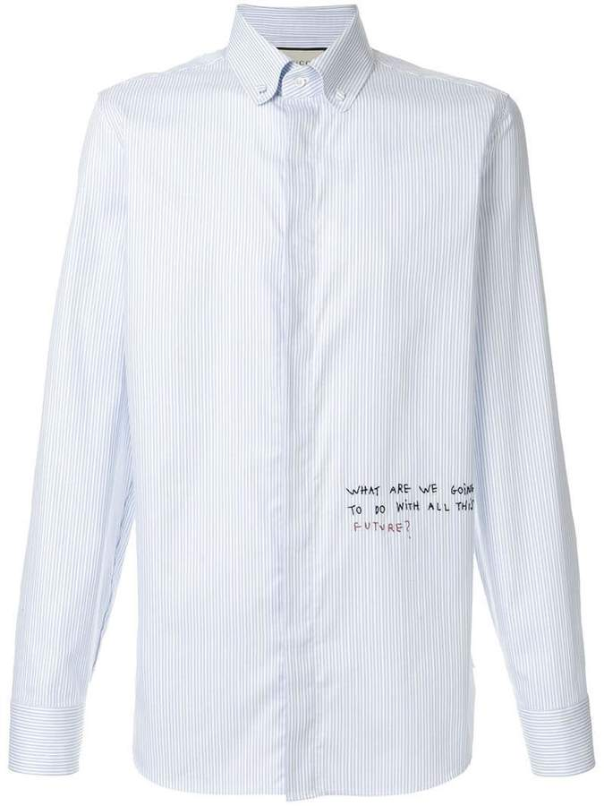 Gucci Coco Capitán striped shirt
