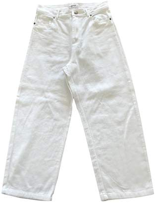 Polder White Cotton Jeans for Women