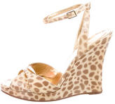 Kate Spade Printed Patent Leather Wedges