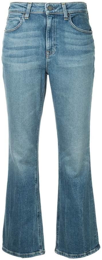 Alexander Wang faded bootcut jeans