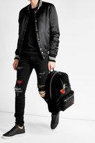 Alexander McQueen Embroidered Velvet Backpack