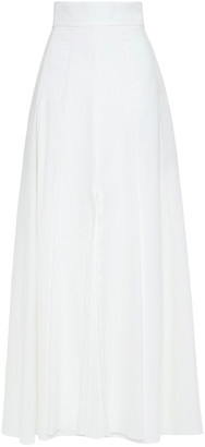 Brunello Cucinelli Pleated Crinkled Cotton-blend Maxi Skirt