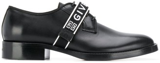 Givenchy logo strap derby shoes