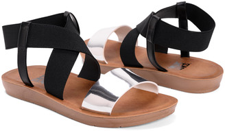 Muk Luks Women's Sandals Silver - Silver & Black Killian Sandal - Women