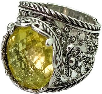 Artisan Crafted Sterling 5.00 ct Lemon Quartz Filigree Ring