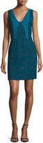 J. Mendel Bicolor Lace Paneled Sheath Dress