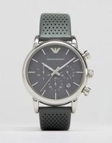 Emporio Armani AR1735 Leather Strap Chronograph Watch
