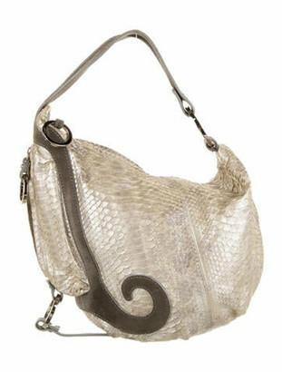 Fendi Oyster Python Bag Silver