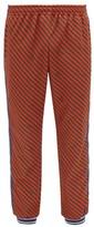 Gucci - Striped Jersey Track Pants - Mens - Orange Multi
