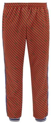 Gucci Striped Jersey Track Pants - Mens - Orange Multi