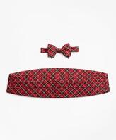 Brooks Brothers Stewart Tartan Bow Tie and Cummerbund Set