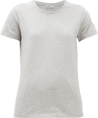 Moncler Logo-applique Cotton T-shirt - Grey