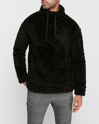 Express Sherpa Funnel Neck Sweatshirt