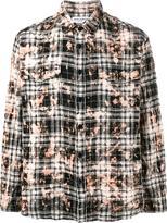 Saint Laurent distressed plaid shirt - men - Cotton/Spandex/Elastane - L