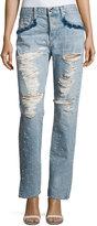 Jonathan Simkhai Distressed Beaded Jeans