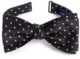 The Tie Bar Dot Silk & Linen Bow Tie