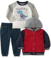 Kids Headquarters 3-Pc. Hooded Jacket, Tough Guy T-Shirt & Jeans Set, Baby Boys
