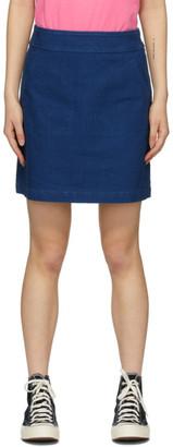A.P.C. Blue Shanya Miniskirt