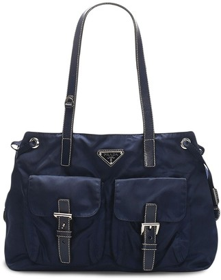 Prada Pre-Owned Triangle Logo Shoulder Bag