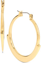 Robert Lee Morris Soho Gold-Tone Geometric Edge Hoop Earrings