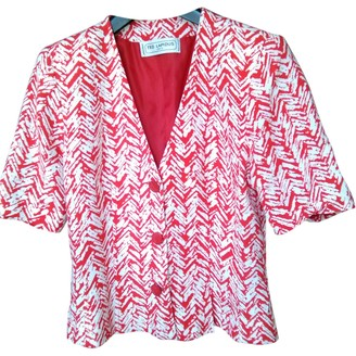 Ted Lapidus Red Cotton Jacket for Women Vintage
