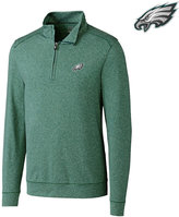 Cutter & Buck Men's Philadelphia Eagles Shoreline Quarter-Zip Pullover