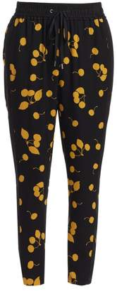 3.1 Phillip Lim Slim-Fit Cherry Print Silk Pants