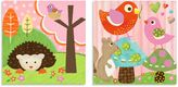 Oopsy Daisy Fine Art For Kids Too Hedgehog Pal & Bird Buddies Multicolor Canvas Wall Art (Set of 2)