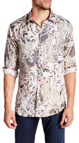 Robert Graham Desert Bones Long Sleeve Silk Blend Shirt
