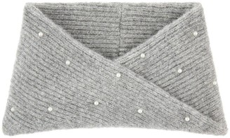 Accessorize Girls Pearl Snood - Grey