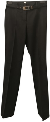 Trussardi Black Cotton Trousers for Women
