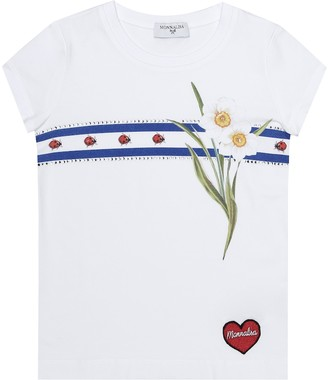 MonnaLisa Printed stretch-cotton T-shirt