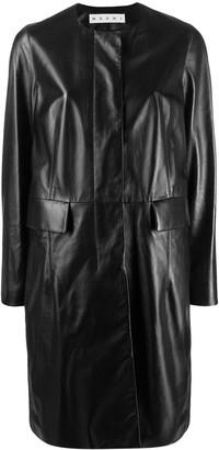 Marni leather overcoat