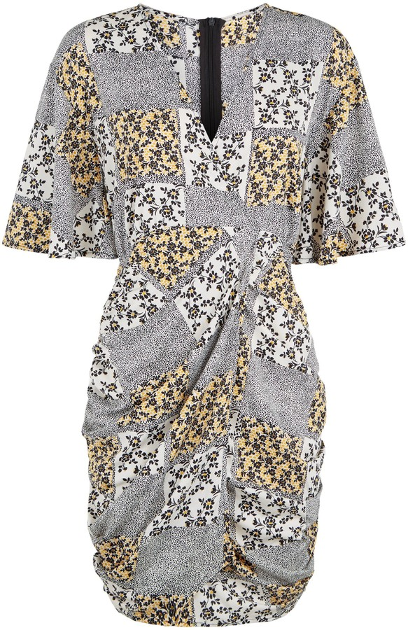 Thumbnail for your product : New Look Urban Bliss Floral Animal Print Tulip Dress