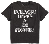 Chaser Toddler Boy's Everyone Loves A Big Brother Graphic T-Shirt