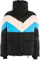 Topshop Colour Block Puffer Jacket