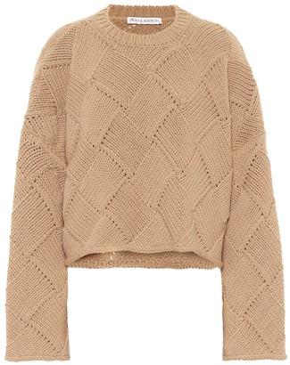 J.W.Anderson Merino wool-blend cropped sweater