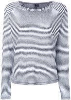 Woolrich salt stripe top - women - Linen/Flax - S