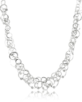 Orlando Orlandini Scintille Anniversary - Diamond 18K White Gold Chain Necklace