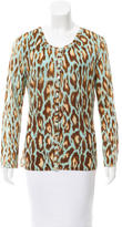 Christian Dior Printed Wool-Blend Cardigan
