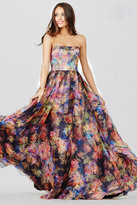 Jovani Multi-Color Printed Long Dress JVN33486