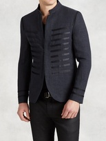 John Varvatos Hook And Bar Jacket With Satin Ribbon