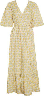 Faithfull The Brand Thulla Wrap Midi Dress