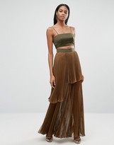 Aq/Aq Aq Aq 2 In 1 Maxi Dress With Pleated Skirt