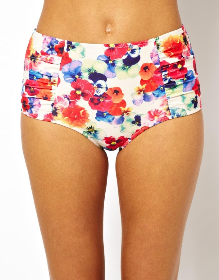 Playful Promises Pansy High Waisted Bikini Bottom