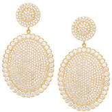 Jamie Wolf 18k Scalloped Diamond Pavé Oval Drop Earrings
